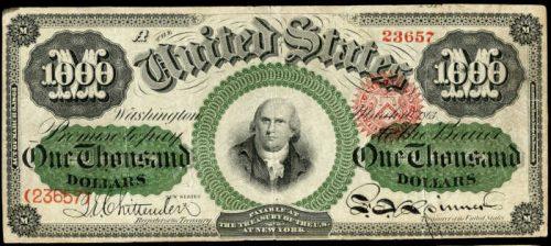 1863 $1000 Legal Tender Value