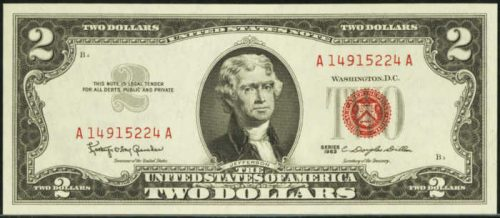 Picture of 1963 $2 Legal Tender