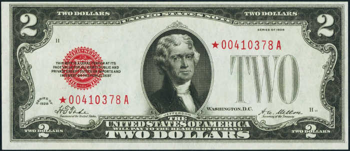 $2 1928 Star Legal Tender Note