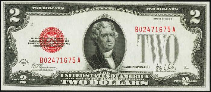 $2 1928B Legal Tender Note