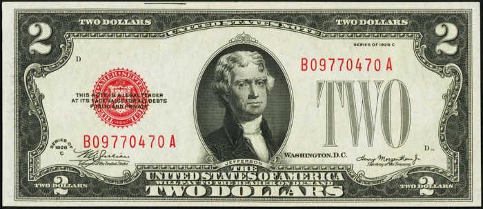 $2 1928C Legal Tender Note