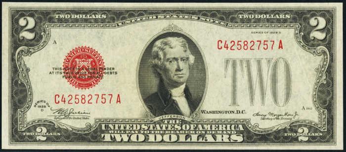 $2 1928D Legal Tender Note