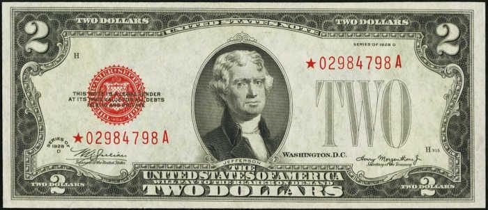 $2 1928D Star Legal Tender Note