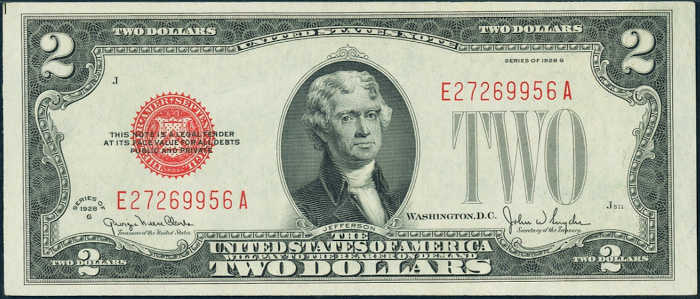 $2 1928G Legal Tender Note