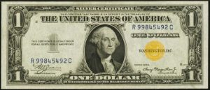 $1 1934A North Africa Yellow Seal Silver Certificate Value