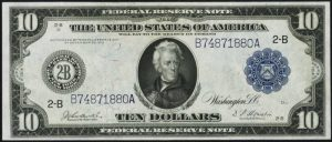 $10 1914 Federal Reserve Note Value