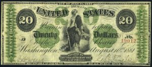 Picture of 1861 $20 Demand Note