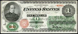 1862-63 $1 Legal Tender Value