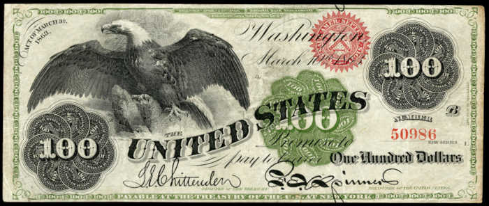 Picture of 1862-63 $100 Legal Tender