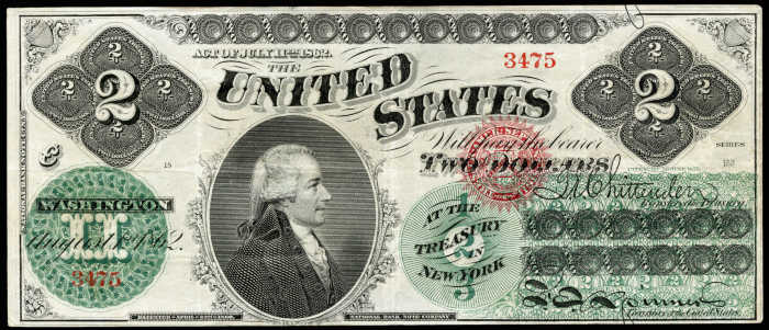 Picture of 1862-63 $2 Legal Tender