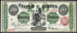 Picture of 1862-63 $20 Legal Tender