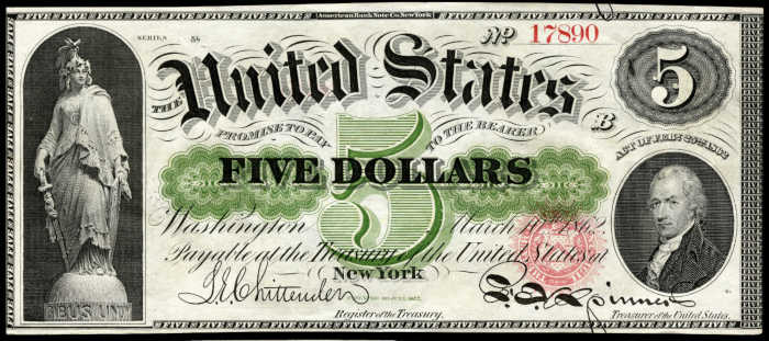 Picture of 1862-63 $5 Legal Tender