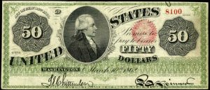 Picture of 1862-63 $50 Legal Tender