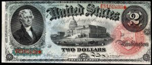 Picture of 1869 $2 Legal Tender Rainbow