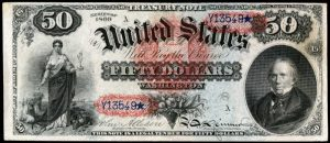 Picture of 1869 $50 Legal Tender Rainbow