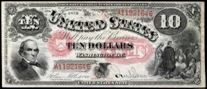 Picture of 1875 $10 Legal Tender