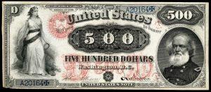 1875 $500 Legal Tender Value
