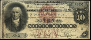 Picture of 1878 $10 Silver Certificate