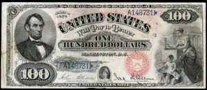 Picture of 1878 $100 Legal Tender