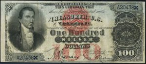1878 $100 Silver Certificate Value