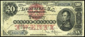 Picture of 1878 $20 Silver Certificate