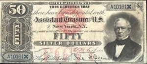 1878 $50 Silver Certificate Value
