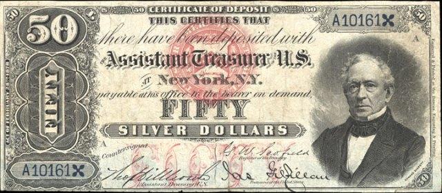 1878 $50 Silver Certificate Value
