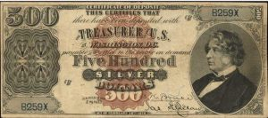 1878 $500 Silver Certificate Value