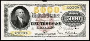 Picture of 1878 $5000 Legal Tender