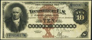 Picture of 1880 $10 Silver Certificate