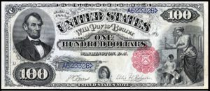 Picture of 1880 $100 Legal Tender