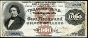 1880 $1000 Silver Certificate Value
