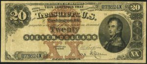 Picture of 1880 $20 Silver Certificate