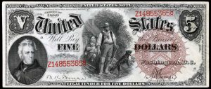Picture of 1880 $5 Legal Tender