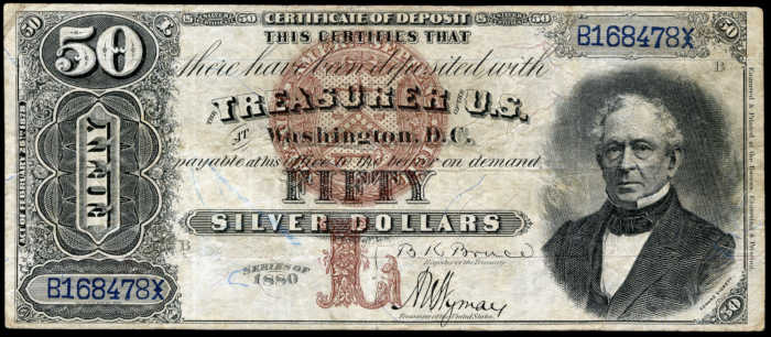 Picture of 1880 $50 Silver Certificate