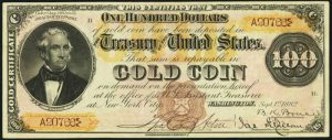 Picture of 1882 $100 Gold Certificate