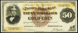 Picture of 1882 $50 Gold Certificate