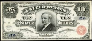 Picture of 1886 $10 Silver Certificate