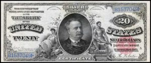 Picture of 1886 $20 Silver Certificate