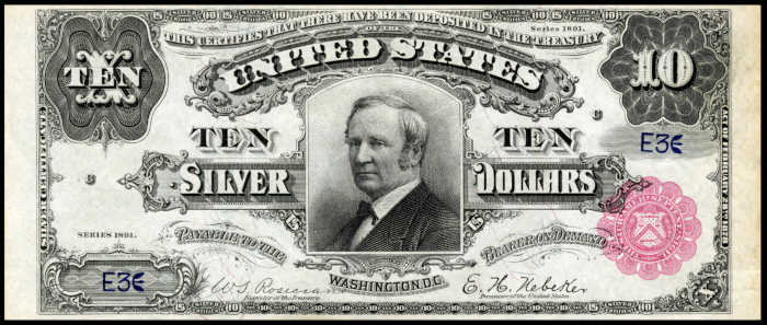 Picture of 1891 $10 Silver Certificate
