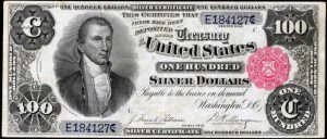Picture of 1891 $100 Silver Certificate