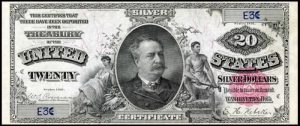 Picture of 1891 $20 Silver Certificate Value