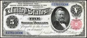 1891 $5 Silver Certificate Value
