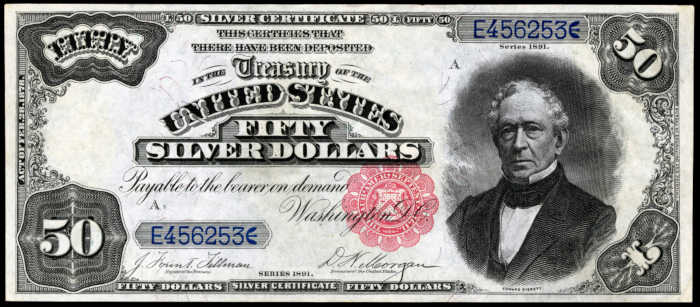 Picture of 1891 $50 Silver Certificate