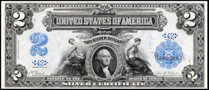 Picture of 1899 $2 Silver Certificate