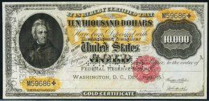1900 $10000 Gold Certificate Value