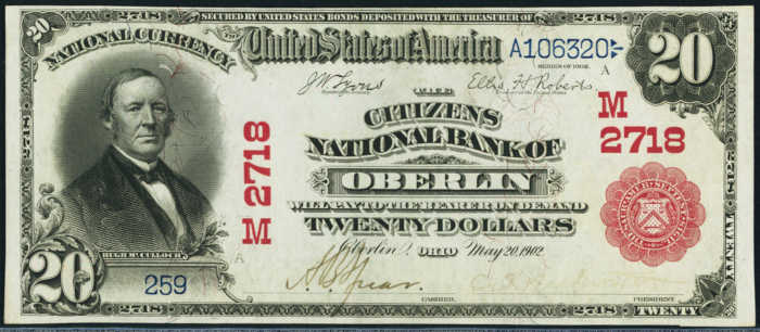 Picture of 1902 Red Seal National Bank Note