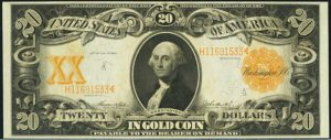 Picture of 1906 $20 Gold Certificate