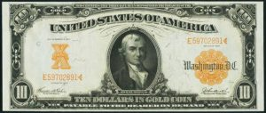 Picture of 1907 $10 Gold Certificate