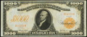 1907 $1000 Gold Certificate Value